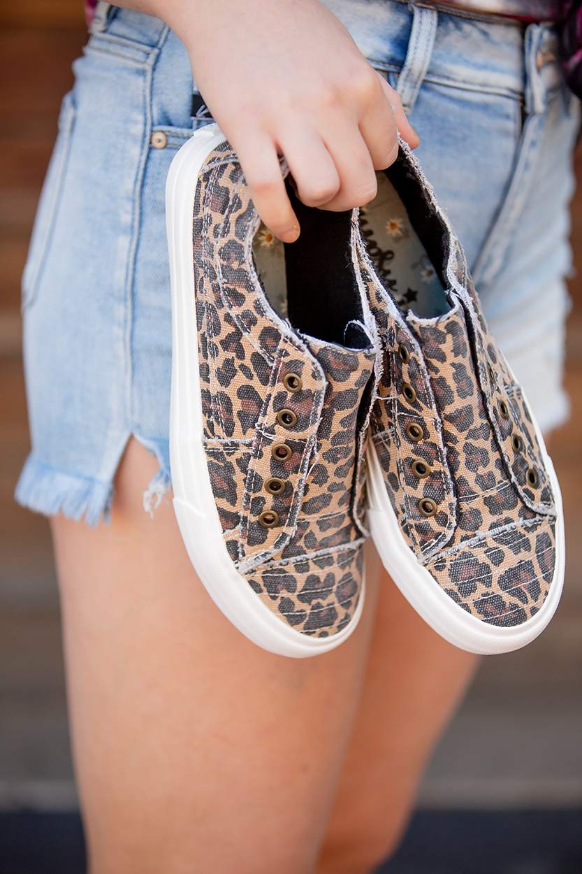 Playful in Leopard Print Gypsy Jazz Sneakers