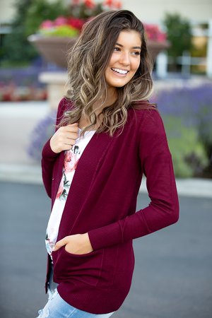 Everyday Cardigan in Burgundy