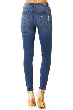 Judy Blue Patched Up Lace Denim