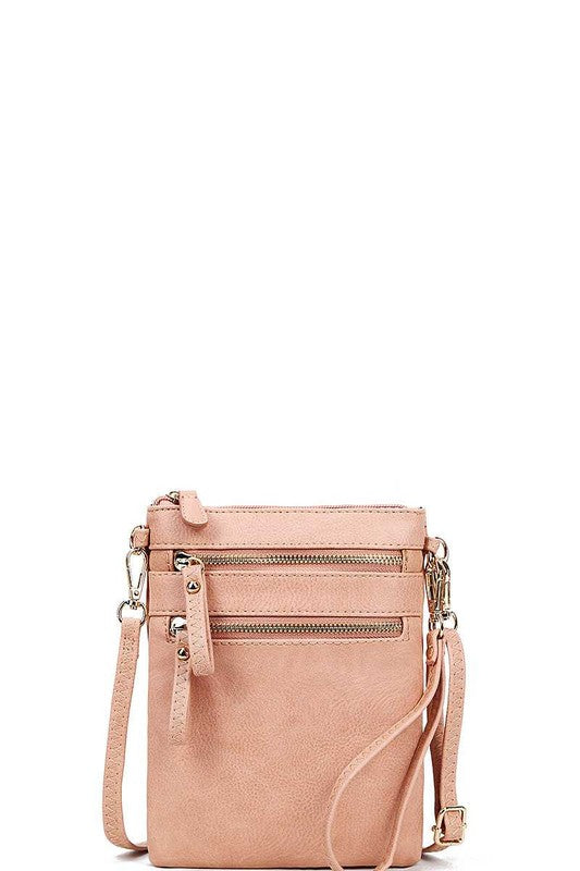 Worth The Wait Cross Body Bag in Blush Pink