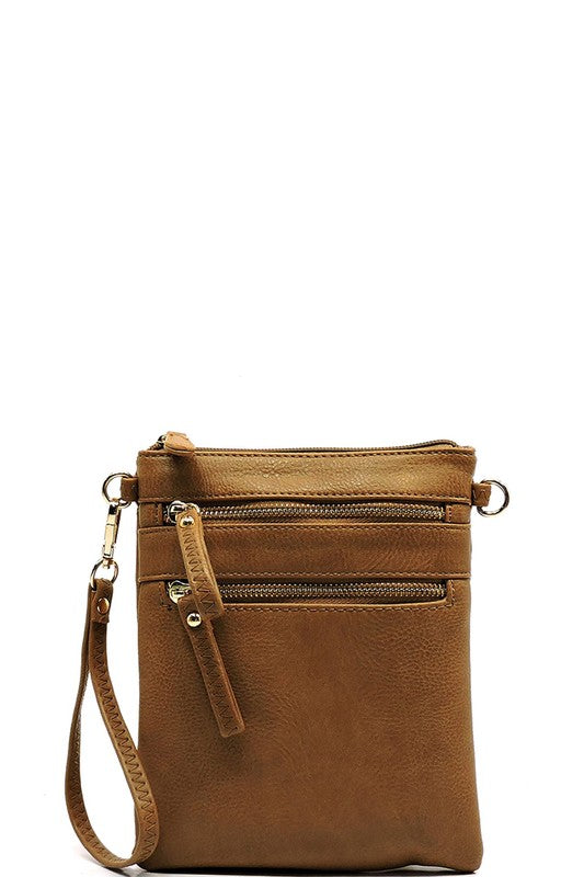 Worth The Wait Cross Body Bag in Brown