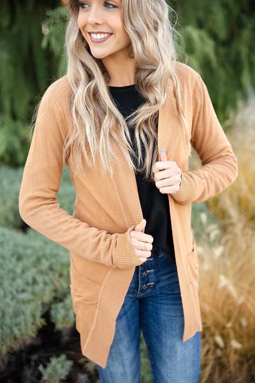 Only Love Cardigan in Caramel