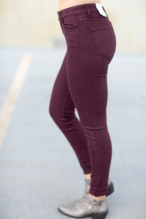 KanCan Burgundy Denim Jeans