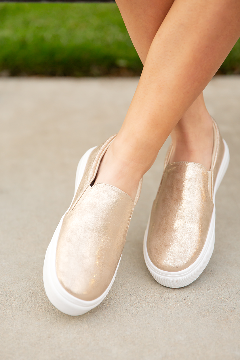 Trail Blazer Slip on Light Gold
