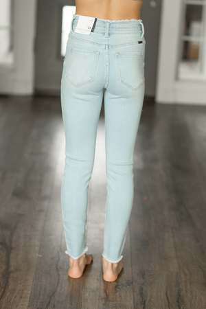 KanCan My Mind High Rise Light Wash Jeans