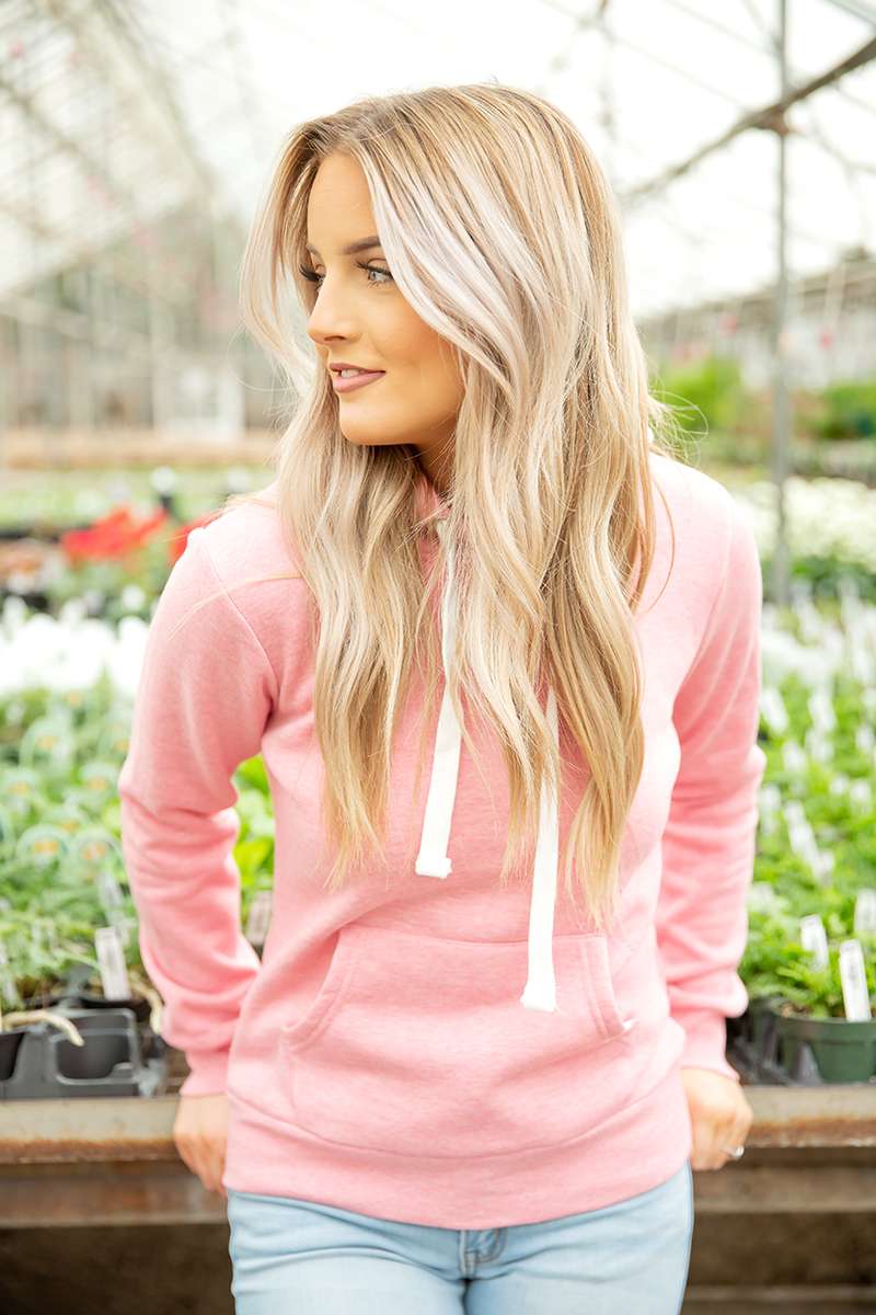 Highlights Hoodie in Heather Pink