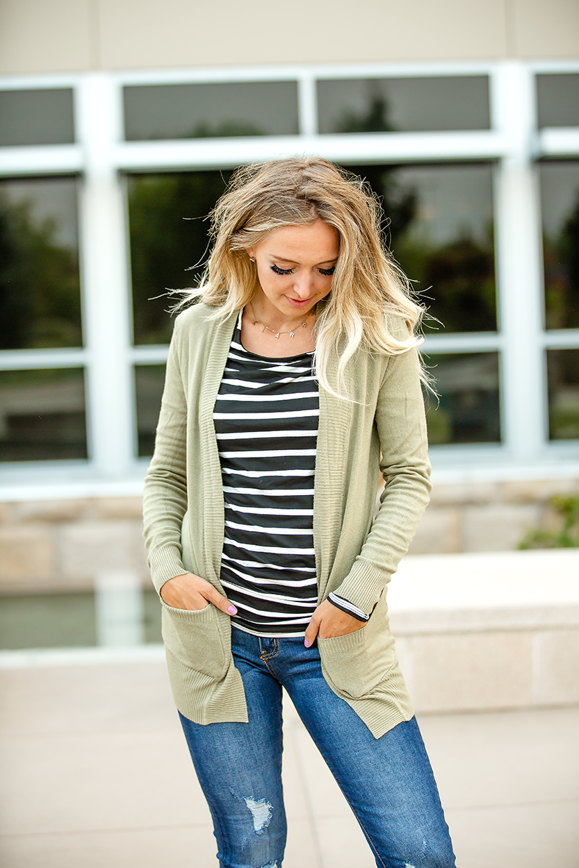 Only Love Cardigan in Sage