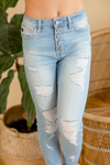KanCan It's Time Light Wash Distressed Jeans