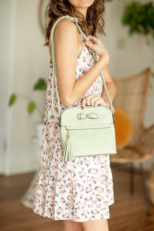 Sweet Talk Hand Bag in Sage
