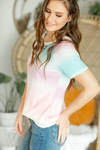 What You Want Rainbow Watercolor Top