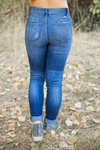 KanCan This is the Best High Rise Button Fly Curvy Dark Denim Jeans