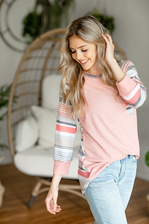 Know Me Like You Striped Top in Blush