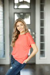 Take Me Away Top in Coral