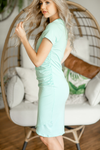 Done Right Rouched Dress in Mint