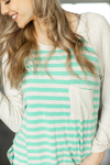 Everything Goes Striped Top in Mint