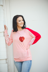 Look of Love Long Sleeve Top with Sequin Heart