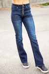 KanCan Be The Man Petite High Rise Flare Denim Jeans