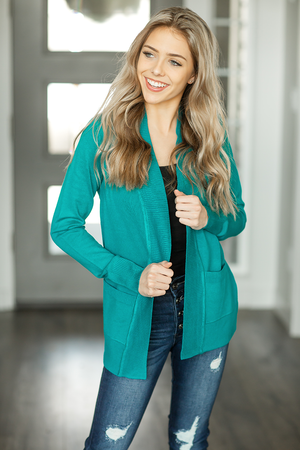 Everyday Cardigan in Teal