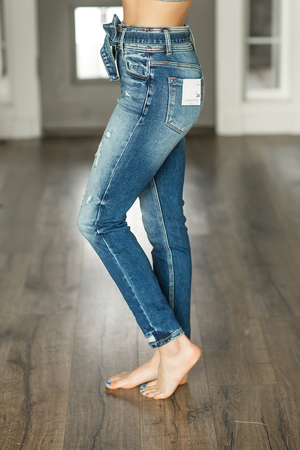 KanCan Opting In High Rise Medium Wash Jeans
