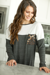 Chasing Dreams Long Sleeve Top in Charcoal