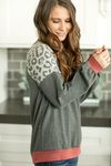 Always A Great Idea Animal Print Sleeve Top