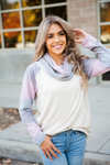 Champion Pink Mint and Oatmeal Ombre Cowl Neck