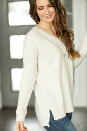 Have it Your Way Sweater in Ivory