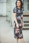 My Kind of Girl Charcoal Floral Dress