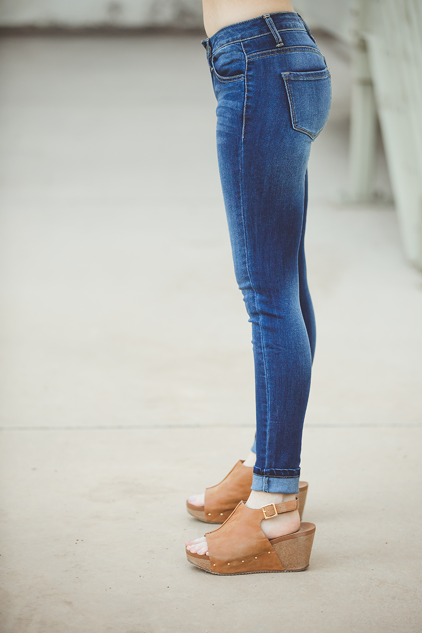 KanCan Over the Moon Mid Rise Super Skinny Jeans