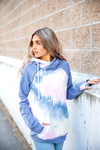Lost In Your Eyes Double Hooded Tie Dye Sweatshirt