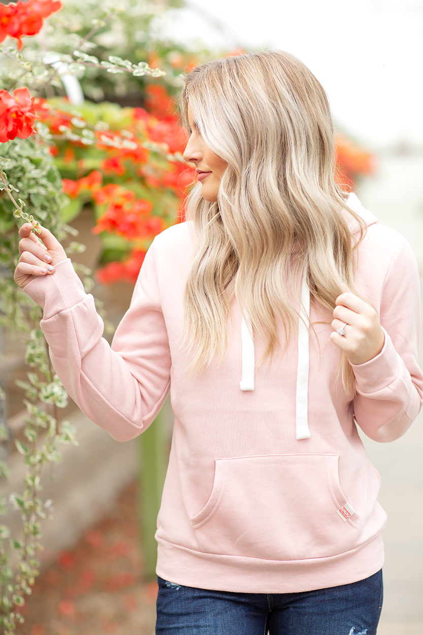 Highlights Hoodie in Blush Pink
