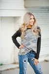 Stir It Up Long Sleeve Top in Camo and Black