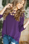 Fall For You Criss Cross Top in Purple