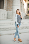 Walk in the Park Gray Long Sleeve with Dots