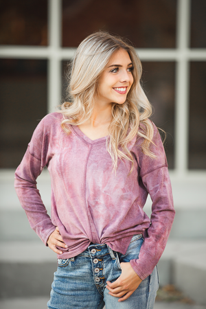 You Look Marvelous Pullover in Vintage Purple