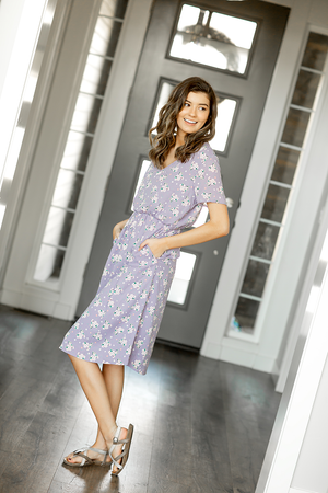 Figuring It Out Floral Dress in Lilac