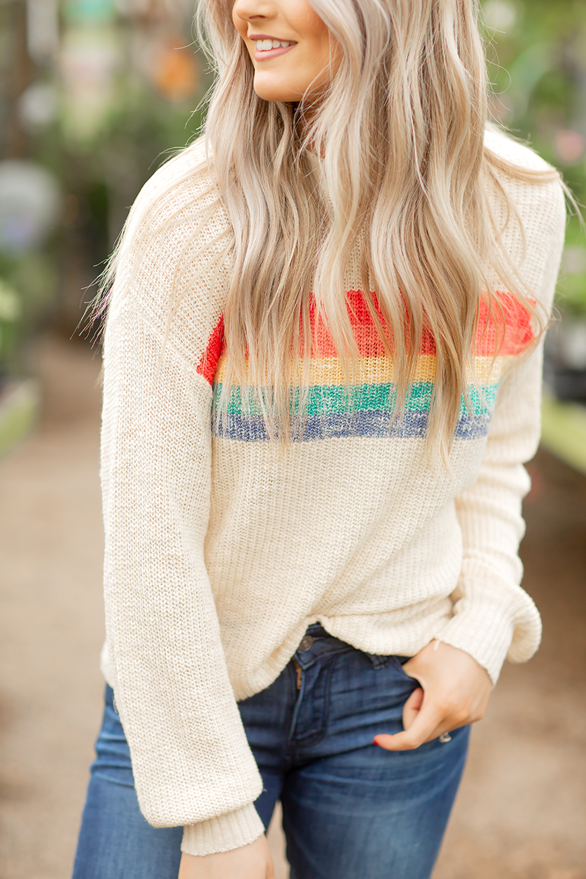 Always Love You Rainbow Detailed Top