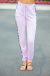 Little Down Time Pink Joggers with Animal Print