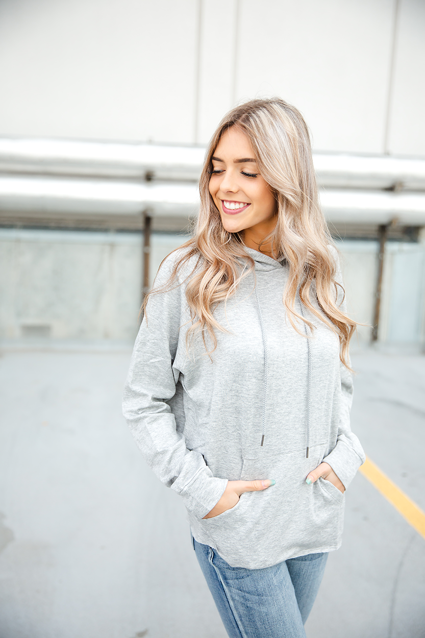 The Right Stuff Hoodie in Heathered Gray (SALE)