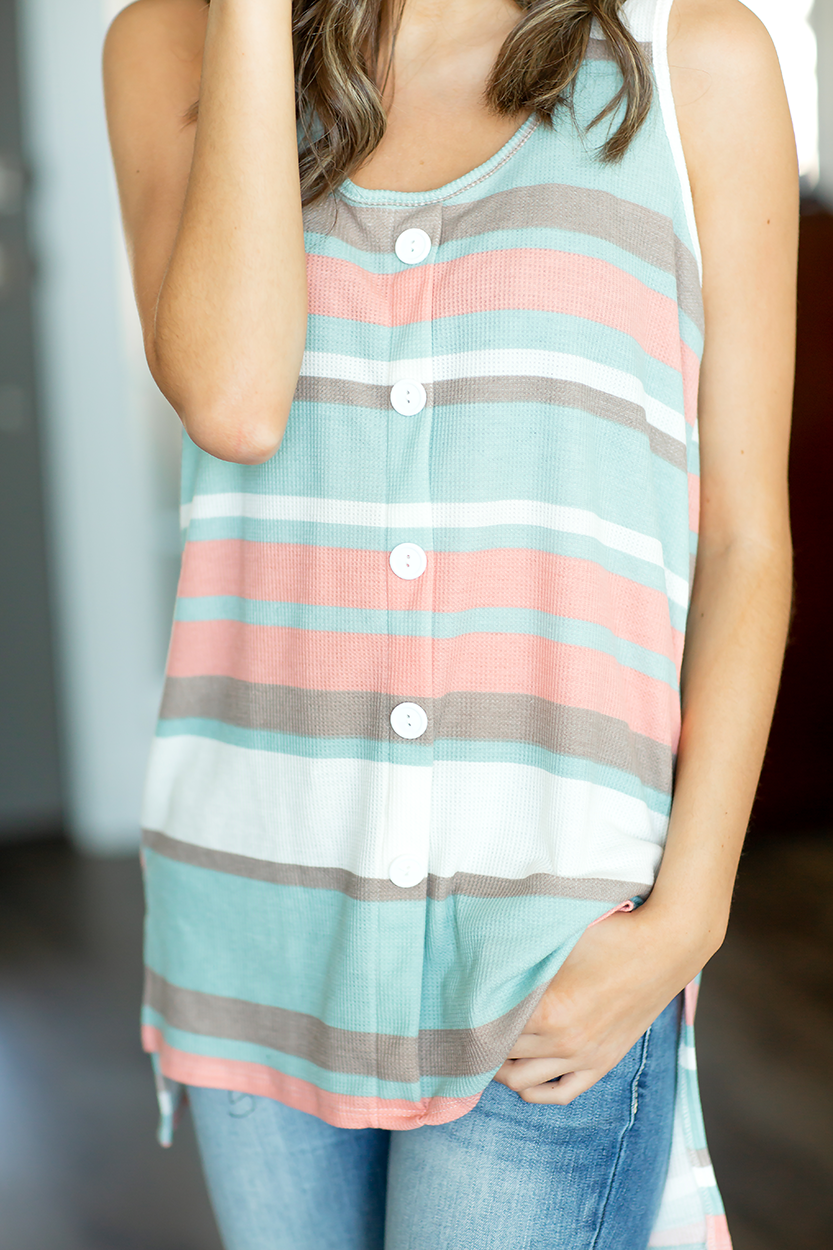 Getting It Right Multi Colored Striped Tank