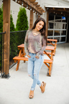Long to Love You Tie Dye Long Sleeve, Criss Cross Top