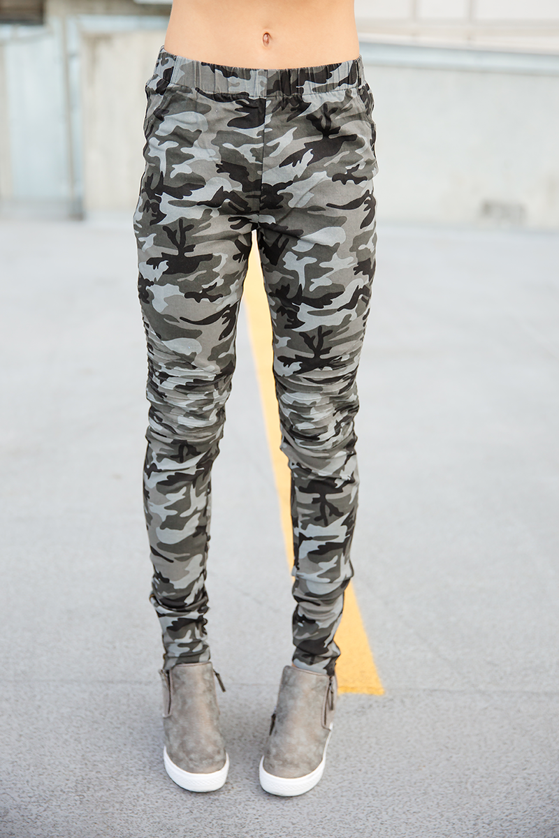 One Way Or Another Camo Moto Pants