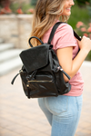 For Your Love Multi Functional Backpack In Black
