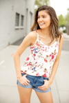 Beautiful Escape Floral Tank in White