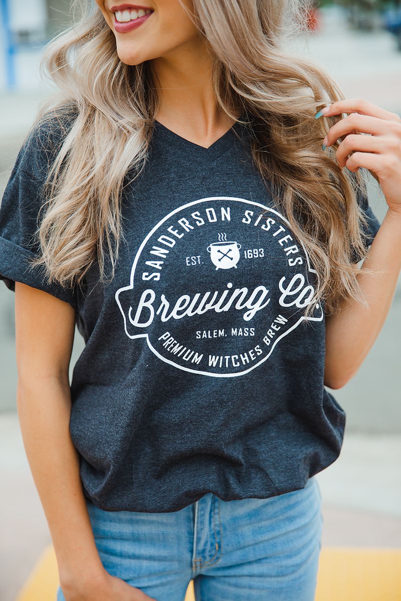 Brewing Co. Charcoal Gray Graphic Tee
