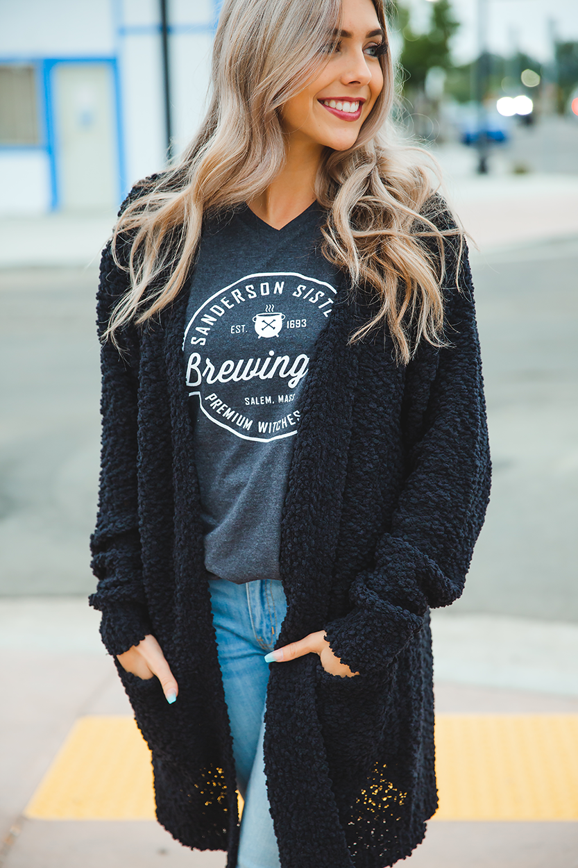 Piece of My Heart Cardigan in Black