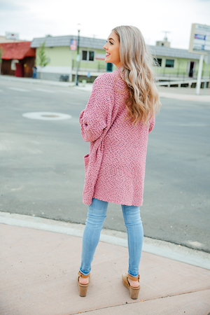Piece of My Heart Cardigan in Ash Rose