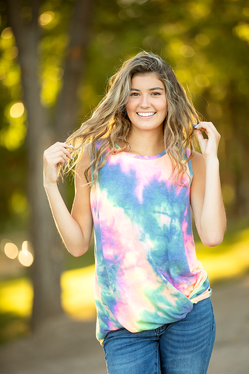 King of Rock Multi Color Neon Tie Dye Tank