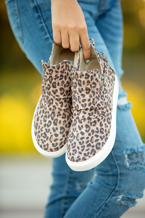 Jealousy Very G Slip On Booties in Animal Print