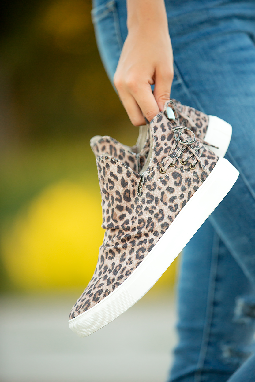 Jealousy Very G Slip On Booties in Animal Print (SALE)